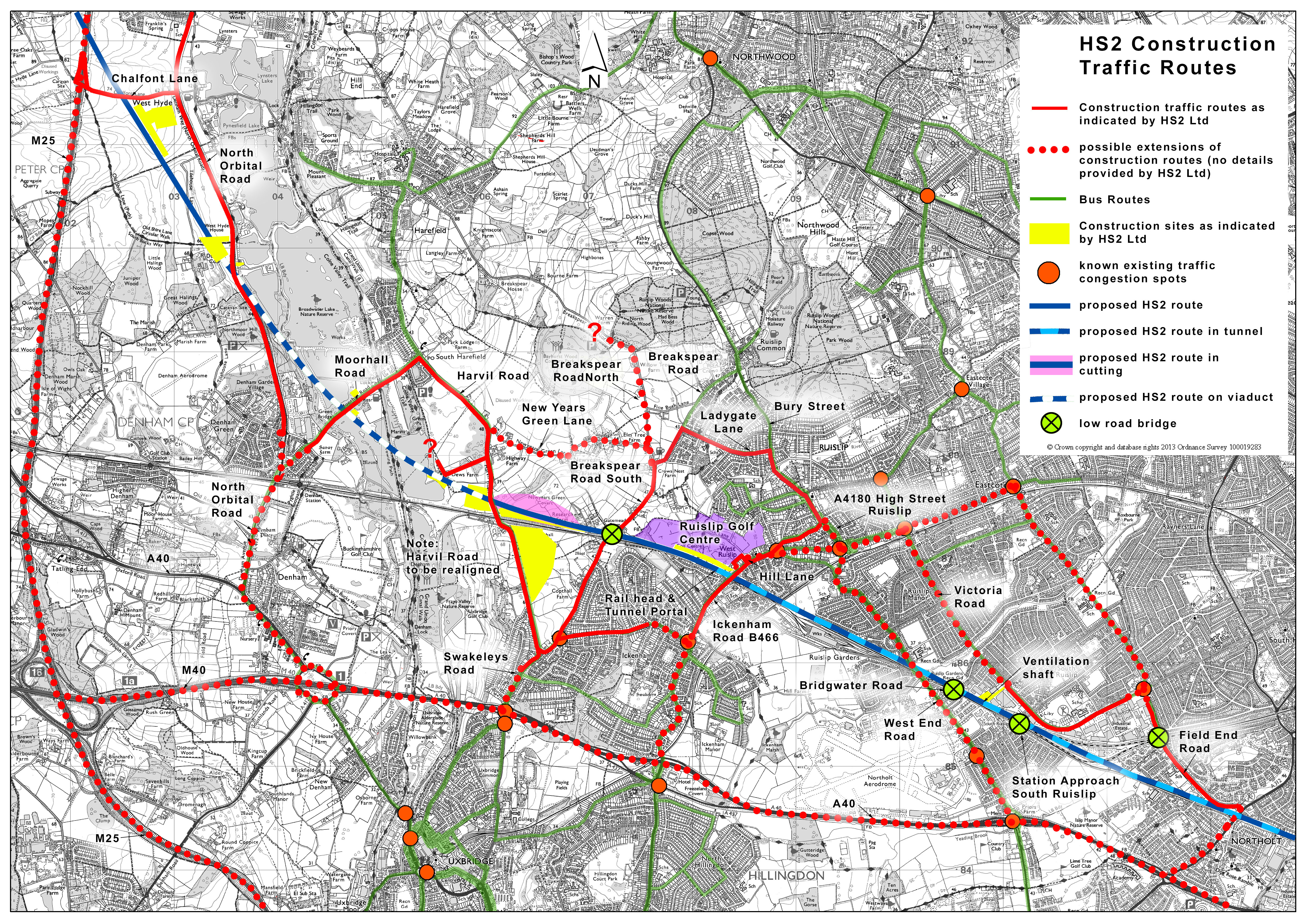 Hs2 Detailed Map HS2 Maps | Hillingdon HS2 Residents Support Group Hs2 Detailed Map